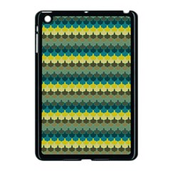 Scallop Pattern Repeat In  new York  Teal, Mustard, Grey And Moss Apple Ipad Mini Case (black) by PaperandFrill
