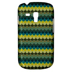 Scallop Pattern Repeat In  new York  Teal, Mustard, Grey And Moss Samsung Galaxy S3 Mini I8190 Hardshell Case by PaperandFrill