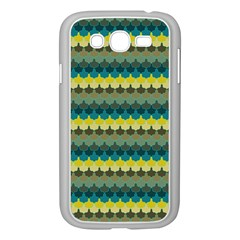 Scallop Pattern Repeat In  new York  Teal, Mustard, Grey And Moss Samsung Galaxy Grand Duos I9082 Case (white) by PaperandFrill