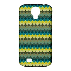 Scallop Pattern Repeat In  new York  Teal, Mustard, Grey And Moss Samsung Galaxy S4 Classic Hardshell Case (pc+silicone) by PaperandFrill