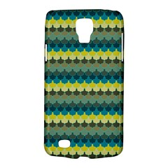 Scallop Pattern Repeat In  new York  Teal, Mustard, Grey And Moss Galaxy S4 Active by PaperandFrill