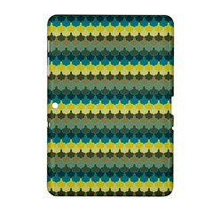 Scallop Pattern Repeat In  new York  Teal, Mustard, Grey And Moss Samsung Galaxy Tab 2 (10 1 ) P5100 Hardshell Case  by PaperandFrill