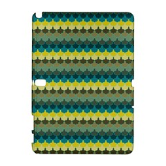 Scallop Pattern Repeat In  new York  Teal, Mustard, Grey And Moss Samsung Galaxy Note 10 1 (p600) Hardshell Case by PaperandFrill