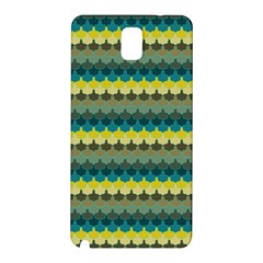 Scallop Pattern Repeat In  new York  Teal, Mustard, Grey And Moss Samsung Galaxy Note 3 N9005 Hardshell Back Case by PaperandFrill