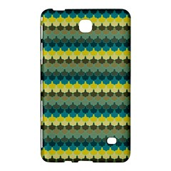 Scallop Pattern Repeat In  new York  Teal, Mustard, Grey And Moss Samsung Galaxy Tab 4 (8 ) Hardshell Case  by PaperandFrill