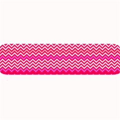 Valentine Pink and Red Wavy Chevron ZigZag Pattern Large Bar Mats by PaperandFrill