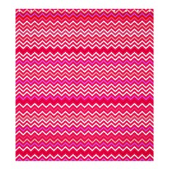 Valentine Pink And Red Wavy Chevron Zigzag Pattern Shower Curtain 66  X 72  (large)  by PaperandFrill