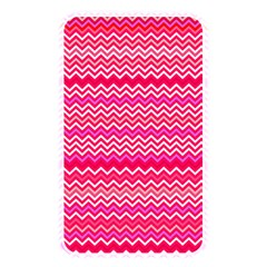 Valentine Pink And Red Wavy Chevron Zigzag Pattern Memory Card Reader by PaperandFrill