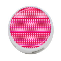Valentine Pink And Red Wavy Chevron Zigzag Pattern 4 Port Usb Hub (two Sides)  by PaperandFrill