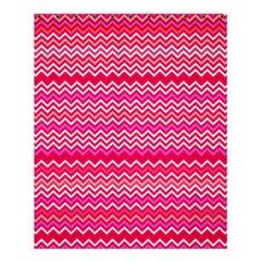 Valentine Pink And Red Wavy Chevron Zigzag Pattern Shower Curtain 60  X 72  (medium)  by PaperandFrill