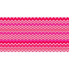 Valentine Pink And Red Wavy Chevron Zigzag Pattern You Are Invited 3d Greeting Card (8x4)  by PaperandFrill
