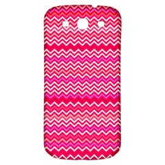 Valentine Pink And Red Wavy Chevron Zigzag Pattern Samsung Galaxy S3 S Iii Classic Hardshell Back Case by PaperandFrill