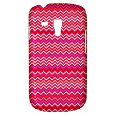 Valentine Pink And Red Wavy Chevron Zigzag Pattern Samsung Galaxy S3 Mini I8190 Hardshell Case by PaperandFrill