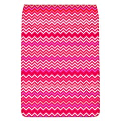 Valentine Pink And Red Wavy Chevron Zigzag Pattern Flap Covers (l)  by PaperandFrill