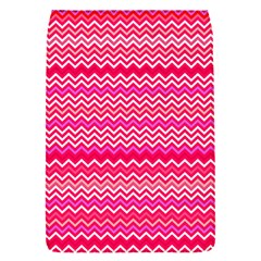 Valentine Pink And Red Wavy Chevron Zigzag Pattern Flap Covers (s)  by PaperandFrill