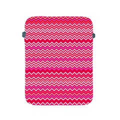 Valentine Pink And Red Wavy Chevron Zigzag Pattern Apple Ipad 2/3/4 Protective Soft Cases by PaperandFrill