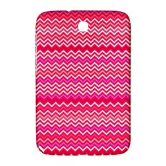 Valentine Pink And Red Wavy Chevron Zigzag Pattern Samsung Galaxy Note 8 0 N5100 Hardshell Case  by PaperandFrill