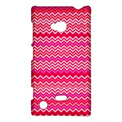 Valentine Pink And Red Wavy Chevron Zigzag Pattern Nokia Lumia 720 by PaperandFrill