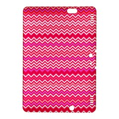 Valentine Pink And Red Wavy Chevron Zigzag Pattern Kindle Fire Hdx 8 9  Hardshell Case by PaperandFrill