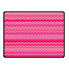 Valentine Pink And Red Wavy Chevron Zigzag Pattern Double Sided Fleece Blanket (small)  by PaperandFrill