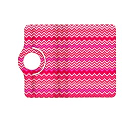 Valentine Pink And Red Wavy Chevron Zigzag Pattern Kindle Fire Hd (2013) Flip 360 Case by PaperandFrill