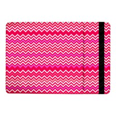 Valentine Pink And Red Wavy Chevron Zigzag Pattern Samsung Galaxy Tab Pro 10 1  Flip Case by PaperandFrill