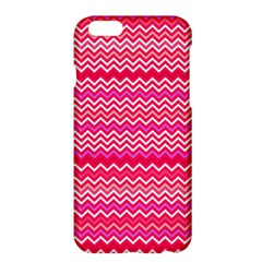 Valentine Pink And Red Wavy Chevron Zigzag Pattern Apple Iphone 6 Plus/6s Plus Hardshell Case by PaperandFrill
