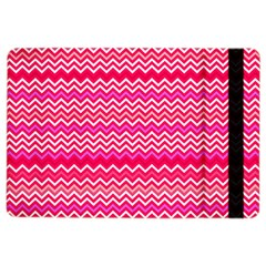 Valentine Pink And Red Wavy Chevron Zigzag Pattern Ipad Air 2 Flip by PaperandFrill