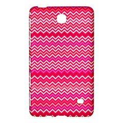 Valentine Pink And Red Wavy Chevron Zigzag Pattern Samsung Galaxy Tab 4 (7 ) Hardshell Case  by PaperandFrill