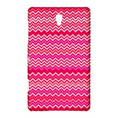 Valentine Pink And Red Wavy Chevron Zigzag Pattern Samsung Galaxy Tab S (8 4 ) Hardshell Case  by PaperandFrill