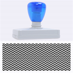 Blue And White Chevron Wavy Zigzag Stripes Rubber Address Stamps (xl) by PaperandFrill