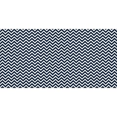 Blue And White Chevron Wavy Zigzag Stripes You Are Invited 3d Greeting Card (8x4)  by PaperandFrill