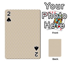 Gold And White Chevron Wavy Zigzag Stripes Playing Cards 54 Designs