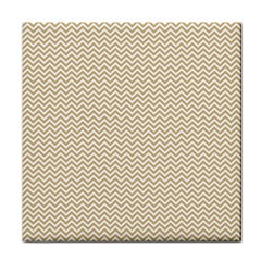 Gold And White Chevron Wavy Zigzag Stripes Face Towel by PaperandFrill