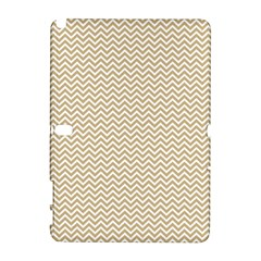 Gold And White Chevron Wavy Zigzag Stripes Samsung Galaxy Note 10 1 (p600) Hardshell Case by PaperandFrill