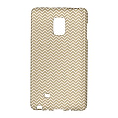 Gold And White Chevron Wavy Zigzag Stripes Galaxy Note Edge by PaperandFrill