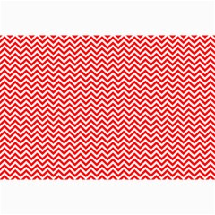 Red And White Chevron Wavy Zigzag Stripes Collage 12  X 18