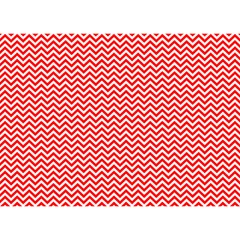 Red And White Chevron Wavy Zigzag Stripes Birthday Cake 3d Greeting Card (7x5)  by PaperandFrill