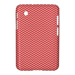 Red And White Chevron Wavy Zigzag Stripes Samsung Galaxy Tab 2 (7 ) P3100 Hardshell Case  by PaperandFrill