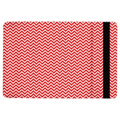 Red And White Chevron Wavy Zigzag Stripes Ipad Air 2 Flip by PaperandFrill