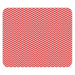 Red And White Chevron Wavy Zigzag Stripes Double Sided Flano Blanket (small)  by PaperandFrill