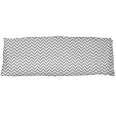 Silver And White Chevrons Wavy Zigzag Stripes Body Pillow Cases Dakimakura (two Sides)
