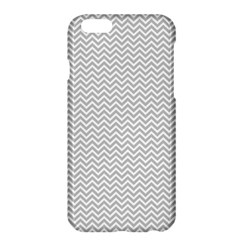 Silver And White Chevrons Wavy Zigzag Stripes Apple Iphone 6 Plus/6s Plus Hardshell Case by PaperandFrill