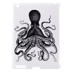 Vintage Octopus Apple iPad 3/4 Hardshell Case (Compatible with Smart Cover)