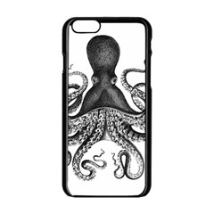 Vintage Octopus Apple iPhone 6/6S Black Enamel Case