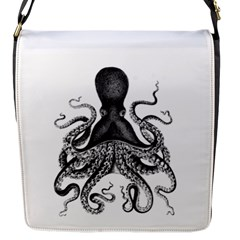 Vintage Octopus Flap Messenger Bag (s) by waywardmuse