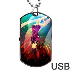 The Dreamer Dog Tag USB Flash (Two Sides)  by bluezelle