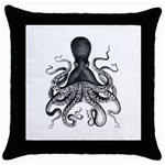 Vintage Octopus Throw Pillow Cases (Black)