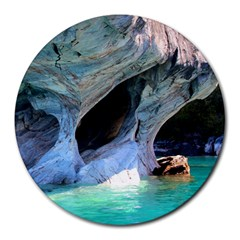 Marble Caves 2 Round Mousepads by trendistuff