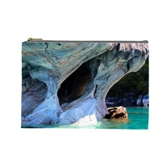 Marble Caves 2 Cosmetic Bag (large)  by trendistuff